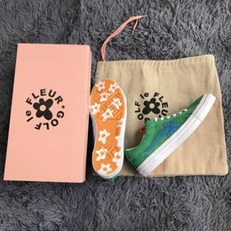 Wholesale Pvc Solar - Brand New Tyler The Creator One Star x Golf Le Fleur TTC Solar Yellow 160323C Sneaker Trainers Shoes Canvas shoes With box