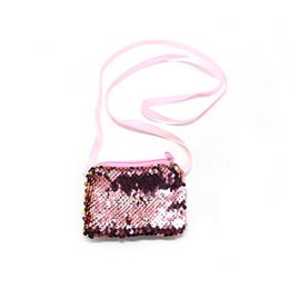 Wholesale Money Makeup - Woman New Sequin Coin Purse Fashion Money Bag Makeup Storage Bags Ladies Evening Party Shouldr Bags WA049