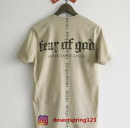 Wholesale Men Gothic Shirt - GD High Street FOG Harajuku Gothic Letter Print Short Sleeve T-Shirt Men and Women Couples Summer Circle Tie Tie Tide Tide