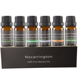 Wholesale tea free oil - Nocarrington Beauty Aromatherapy Top 6 Essential Oil 100% Pure & Therapeutic Grade - Basic Sampler Gift Set & Kit free shipping