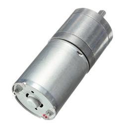 Wholesale 24v geared motor - DC 24v 12-1360RPM Geared motor long shaft gear motor torque 0.1-9 kg.cm 25GA-370