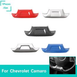chevrolet lenkradabdeckungen Rabatt Auto Lenkrad Dekoration Abdeckung Trim ABS 5 Farben Für Chevrolet Camaro 2017+ Auto-innenausstattung