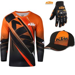 Per KTM Racing Team T-Shirt manica lunga da moto da uomo Summer Dirt Bike Top da corsa Motocross Sport all'aria aperta ATV MX Tee Shirt da magliette da corsa fornitori