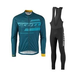 Wholesale Scott Clothes - Long Sleeve SCOTT cycling jersey Tour de France Spring and Autumn Bisiklet wear bike maillot ropa ciclismo Bicycle MTB clothes