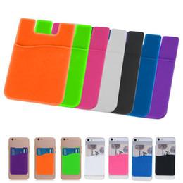 Canada Pochette pour carte de crédit avec porte-cartes d'identité pour téléphone cellulaire en silicone élastique Offre