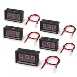 Tester di cablaggio dell'automobile online-1/2/5 PZ 2.5-30 V 0.56 in 2-fili LED Digital Display Panel Voltmetro Tester Tester Elettrico Tester Auto Batteria Auto Moto