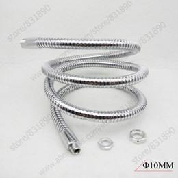 Wholesale chrome pipes - 1pc Dia10mm LED table lamp Flexible holder L:50 60CM metal plumb led pipe hose gooseneck For Desk lights Tracking light Diy
