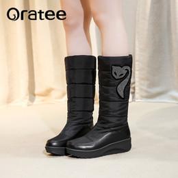 73bfe70e4 Nueva moda botas de nieve de diamantes de imitación cuñas tacones altos de  piel gruesa dentro de invierno Crystal botas de media pantorrilla damas  mujeres ...