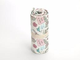 Sacchetto di matita a mano di tela nazionale ricamo borse 36/48/72 fori rotolo sacchetto di trucco pennello cosmetico penna scatola di immagazzinaggio sacchetto di scuola da