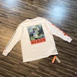 Wholesale Crown Appliques - Heron Preston T Shirt Men Women 1 High Quality Red-crowned Crane T-shirts Hip Hop Top Tees Fashion Heron Preston T Shirt