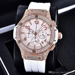 Wholesale Evolution Watch - Luxury Watches diamond Mens Brand New Bang 44Mm Evolution Rubber Band Diamond Watch 10 Ct MAN WATCH Wristwatch