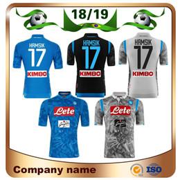 2018 jerseys de fútbol 14 18/19 Napoli home azul Camisetas de fútbol 2019 Napoli # 17 HAMSIK # 14 MERTENS # 24 INSIGNE Camiseta de fútbol Customized football uniform sales jerseys de fútbol 14 baratos