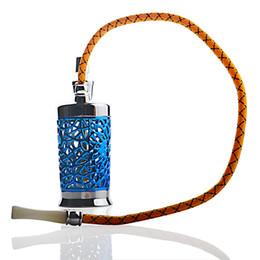 2020 accesorios de manguera Silver Blue 1 Hose Hookah Metal con accesorios Set Shisha Metal Material tubería de agua bong rebajas accesorios de manguera