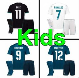 Wholesale Boys L - 17 18 KIDS kits Real Madrid soccer jersey 2017 Football shirtS RONALDO Asensio SERGIO MODRIC RAMOS MARCELO BALE ISCO child Soccer Sets