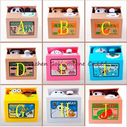 Wholesale Money Piggy Bank Toys - Ola Panda Thief Money Boxes Toy Piggy Banks Gift Kids Money Boxes Automatic Stole Coin Piggy Bank Money Saving Box Moneybox Toys