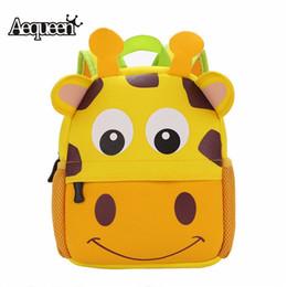 Wholesale Cute Cartoon Dog Backpack - Wholesale-New 3D Cute Animal Design Backpack Kids School Bags For Teenage Girls Boys Cartoon Dog Monkey Shaped Children Backpacks Big Size