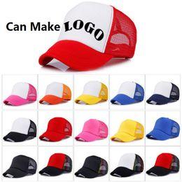 Wholesale Making Custom Hats - 14 colors Trucker Cap Adult Mesh Caps Blank Trucker Hats Snapback Hats Accept Custom Made Logo b1530