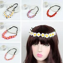 Wholesale Sunflower Headbands - Sunflower Women Bohemian Floral Headbands For Party Wedding