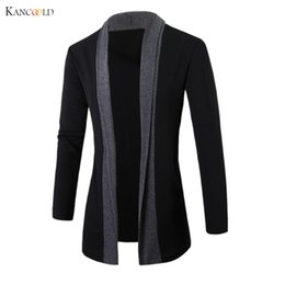 Wholesale Warm Sweaters Men - Wholesale-2017 men Jacket Winter Jackets mens Fashion Clothing Trench Coat Sweater Slim Long Sleeve Cardigan Warm coats male Outwear GBY0h
