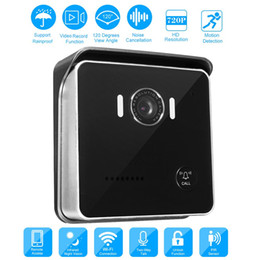 2019 intercomunicador androide Wifi Smart Video Doorbell Camera 720P Video Inalámbrico Door Phone Intercom Bell Visión Nocturna Detección de Movimiento IOS Android Smart Phone rebajas intercomunicador androide