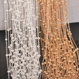 Wholesale Tiny Silver Beads - whole sale1 piece high quality silver plated and gold tone tiny Beads Ball chain necklace personalzied length,jewelry finding chain 2mm