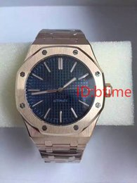 Wholesale Offshore Rose Gold - Royal Oak Offshore Mens Watch White Dial Transparent Back Original Clasp Automatic Movement Mechanical Men Watches Rose Gold Stainless Steel