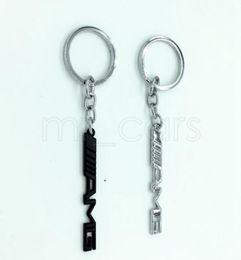 anillo mercedes benz Rebajas Titular de la llave Auto Car Styling Llavero del coche Llavero AMG Insignia Emblemas del coche para Mercedes Benz A45 SLS AMG GGA521