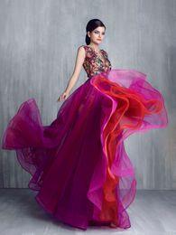 Tony Chaaya Jewel Applique Sans manches Une Ligne Sexy Robes De Soirée Vintage 2018 Custom Made Classique Robes De Bal ? partir de fabricateur