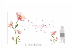 Wholesale Nursery Bedroom Furniture - Removes wall stickers Romantic flowers between the warm bedroom background decorative stickers Furniture wall stickerZI-388