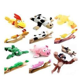 animales de tiro Rebajas Forma de animal Tirachinas Lindo Flying Monkey Screaming Slingshot juguetes de peluche novedad niños juguetes regalos muchos estilos 10zx C