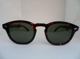 gafas de sol depp Rebajas Gafas de sol polarizadas HD de estilo estrella de gran calidad L M S Johny Depp Gafas de tabla pura importadas en Italia Estuches de tamaño completo Precio de salida OEM