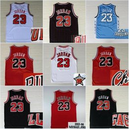 Venta al por mayor online-Venta caliente NCAA # 23 Michael MJ Jersey Universidad de Carolina del Norte Michael All Star bordado logotipo cosido baloncesto Jerseys baratos al por mayor