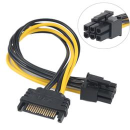 15Pin SATA 6Pin Güç Kablosu Adaptörü Konnektör 6 P PCI-E PCI Express Adaptörü Grafik Ekran Kartı Dönüştürücü Kablo 100 adet / grup nereden