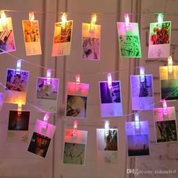 Tarjetas flash de animales online-Clips de fotos cadena luz LED de la batería clips Desarrollado luces luz navidad para colgar cuadros de tarjetas Notas ilustraciones Luz de Navidad