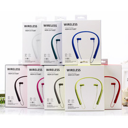 Wholesale Earphones Mdr - wireless Hanging ear stereo Portable earphone Sport Bluetooth headset for SONY MDR-EX750 hight quality Headphone
