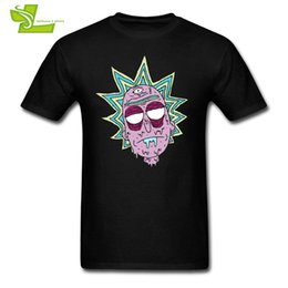 Wholesale Red Shirt Guy - Trippy Rick Adult T Shirt Home Wear Normal Loose T-Shirt Men's Summer O Neck Tee Guys Latest Unique Tee Shirt Rick And Morty