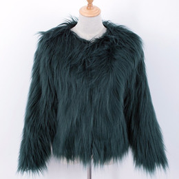 Wholesale Thick Mink Faux Fur Jackets - 4XL Winter Faux Mink Fashion Fur Female Jacket Coats For Women Jackets Pink Black Autumn Coat Thicken Warm Fake Furs Outerwear