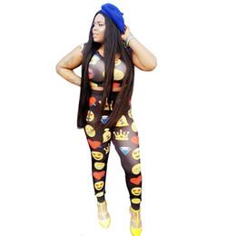 Deutschland Emoji Print Frauen Trainingsanzug Sommer Zweiteiler Crop Top Und Hosenanzug Nette Jogger Set Casual Sweat Anzüge Weiblich supplier cute tracksuit for women Versorgung