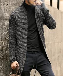 Cardigan maglione mohair online-Maglione da uomo regolare Cardigan a maniche lunghe Maschi Stile pull Cardigan Abbigliamento Moda Maglione di mohair caldo spesso Uomo Inghilterra Stile Caldo