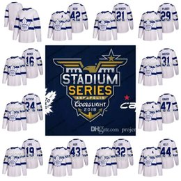 Wholesale Hockey Jersey Toronto - Mens Womens Youth Toronto Maple Leafs 2018 Stadium Series Jerseys Mitch Marner Auston Matthews Frederik Andersen Tyler Bozak Nazem Kadri
