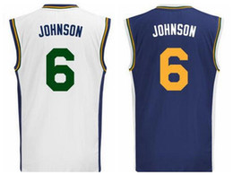 Wholesale White Navy Uniforms - 2016 Men Printed 6 Joe Johnson Jersey Shirt Rev 30 New Material Joe Johnson Uniforms Breathable Navy Blue White Color Home Quality