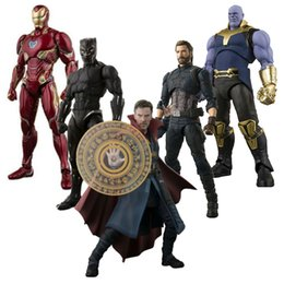 old new toys Promo Codes - Action & Toy Figures Avengers infinity War SHF Dr. Strange Thanos Captain America MK50 Action Figure