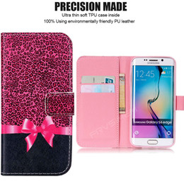 Wholesale Galaxy S4 Gold Pink - Painted Flip Case Wallet Leather Cover for iphone X 5 5s SE 6 6s 7 8 plus for Samsung galaxy S3 S4 S5 Neo S6 S7 edge