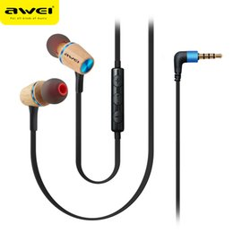 Wholesale music games pc - AWEI ES-80TY newest earplug metal game mobile phone Headset in computer MP3 bass music headset earphone for mobile phone and PC