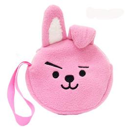 Wholesale Plush Dolls Case - Bangtan Boys Coin Purse Bag RJ Army Soft K-pop Pouch Doll BT21 Plush Case Purse BTS Toy Bag Fashion Mini Wallet