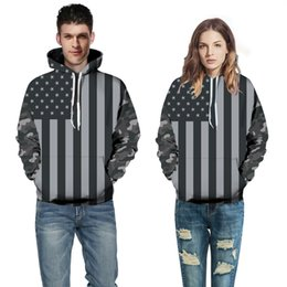 Wholesale Man United Flags - Europe and the United States explosion models - American flag positioning digital printing - large size men's hoodie sweater