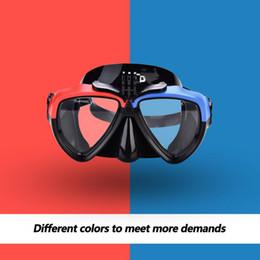 2019 máscara de snorkel para adultos Adultos Snorkeling Scuba Mask Cámara antivaho Máscara de buceo 2 colores Buceo bajo el agua máscara de snorkel para adultos baratos