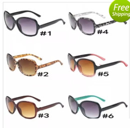 dda874f5f10 Lunettes de soleil tendance pour femme 8016 grand cadre rond lunettes de soleil  NICE FACE lunettes de soleil rétro 6 couleurs A +++ Qualité