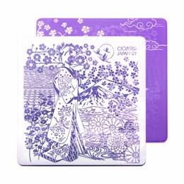 Immagini di stampa a mano online-CICISISI Nail Stamping Template Immagini Stampa Art Plates Stencil Cartoon Decalcomanie per le unghie delle mani Decorazione serie Giappone