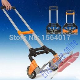 Wholesale luggage truck - Aluminum alloy compact folding foldable hand truck trolley foldable luggage carrying shopping cart